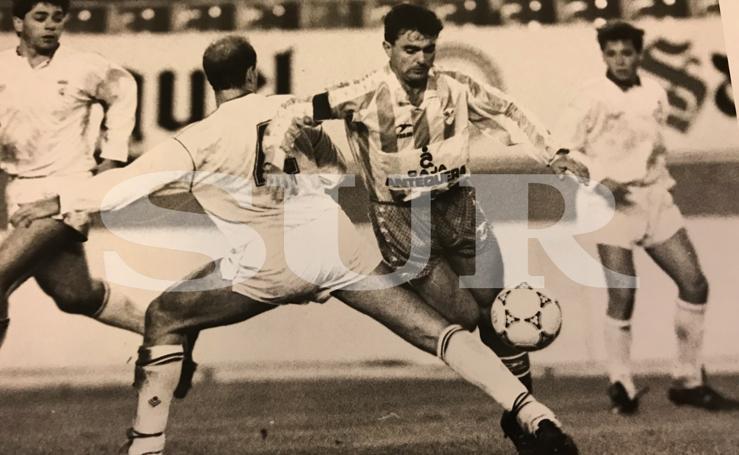 Fotos históricas de Rivas, un centrocampista indispensable en la recta final del CD Málaga