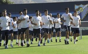 Diez jugadores del filial en la primera convocatoria del Málaga de Muñiz