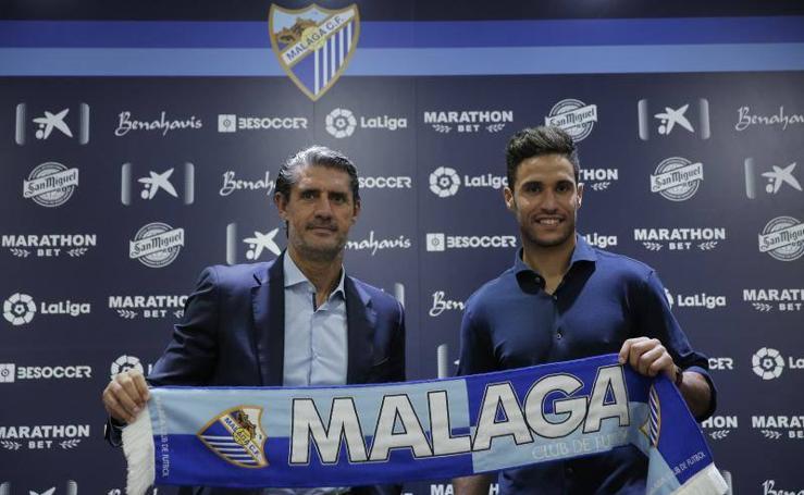 Munir, presentado como nuevo jugador del Málaga