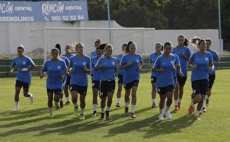 Primer día de trabajo del Málaga femenino como equipo de Primera