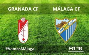 Directo | Empate a cero al descanso entre el Málaga y el Granada