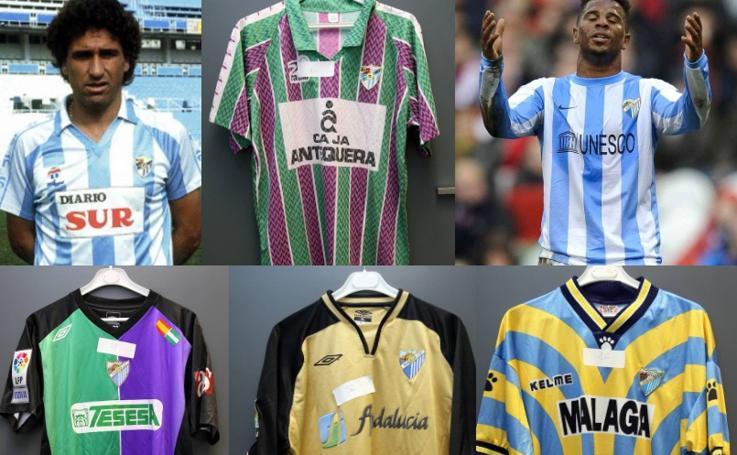 Las camisetas de la historia del Málaga