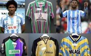 Viaje histórico por las camisetas del Málaga