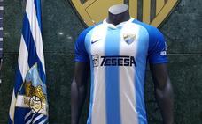 Predominio del azul en la primera camiseta del Málaga y anuncio del patrocinador, Tesesa
