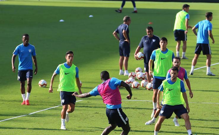 Así ha transcurrido el entrenamiento del Málaga de este miércoles 29 de agosto