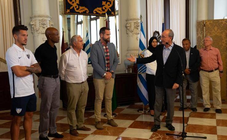 Recepción al Atlético Malagueño en el Ayuntamiento
