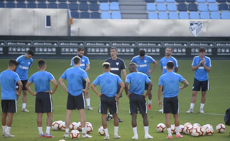 Así ha transcurrido el entrenamiento del Málaga de este viernes