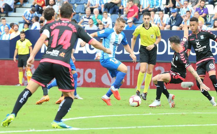 El Málaga suma su cuarta victoria consecutiva ante el Tenerife