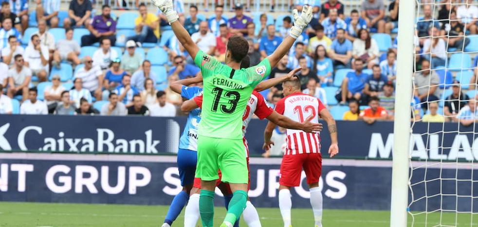 El Málaga, eliminado de la Copa al perder con el Almería (1-2)