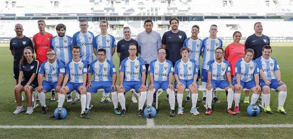 La Diputación apadrina la Escuela de Fútbol de Discapacidad Intelectual de la Fundación del Málaga CF