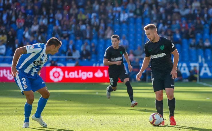 El Málaga logra un valioso empate en Riazor