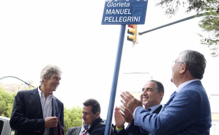 Manuel Pellegrini ya tiene una rotonda con su nombre en Málaga