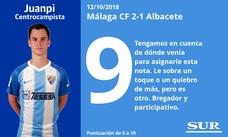 El uno a uno del Málaga 2-1 Albacete (Jornada 9)
