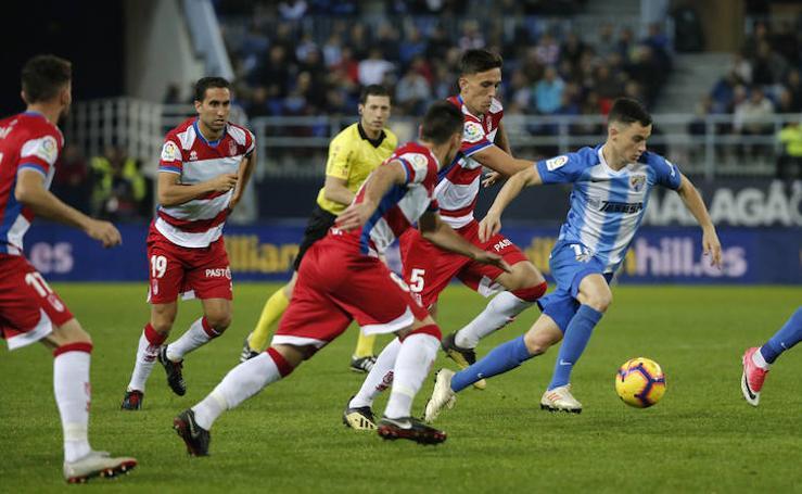 Así fue la derrota del Málaga ante el Granada