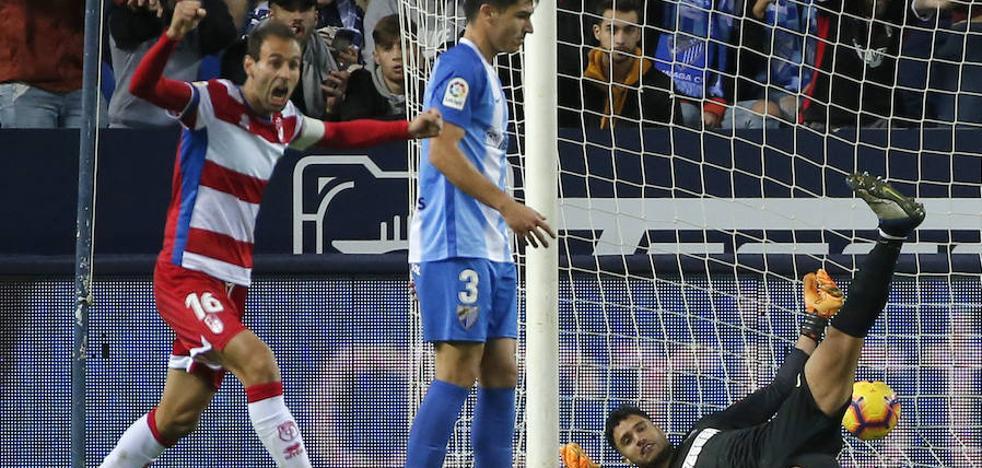 El Málaga alimenta las dudas en el derbi