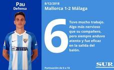 Notas a los jugadores del Málaga tras vencer en Mallorca