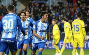 El Málaga, fiel a su estilo, frena en seco al Cádiz