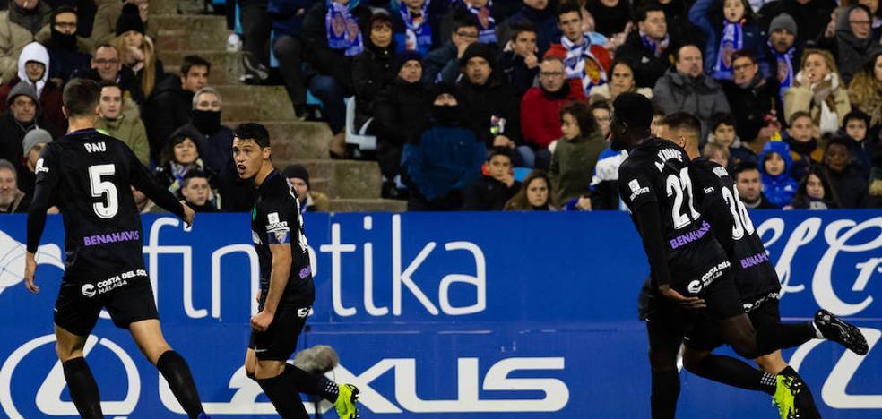 El Málaga, a un punto del líder en el ecuador de la temporada