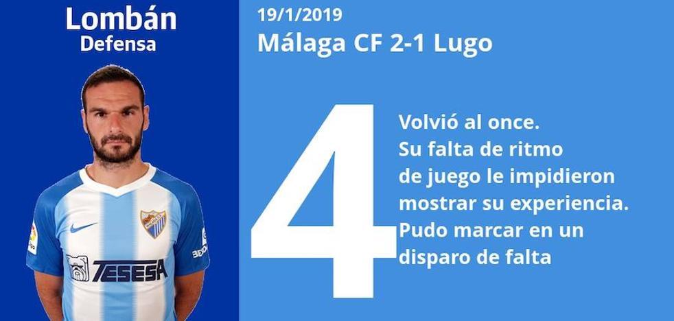 Puntuaciones de los jugadores del Málaga tras su victoria ante el Lugo