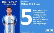 Puntuaciones de los jugadores del Málaga ante el Lugo
