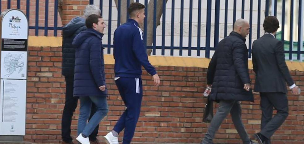 Iván Alejo, en Málaga para firmar