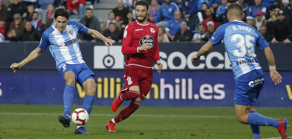 El Málaga no tiene delantero