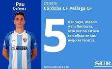Notas a los jugadores del Málaga tras empatar en Córdoba