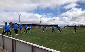 Seleznov no completa el entrenamiento celebrado esta mañana en Soria