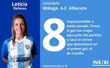 Puntuaciones una a una de las jugadoras del Málaga tras su victoria ante el Albacete