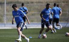 Entrenamiento del Málaga este martes, cara al partido del viernes contra el Alcorcón