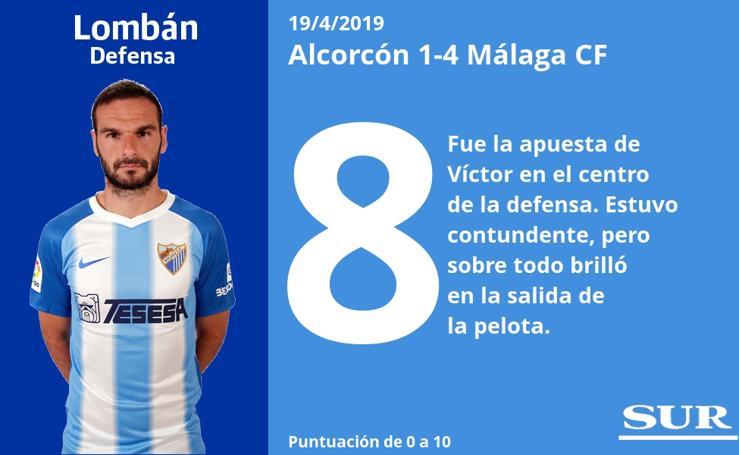 Notas a los jugadores del Málaga
