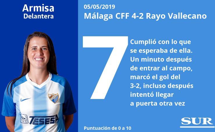 El una a una del Málaga CFF 4-2 Rayo Vallecano