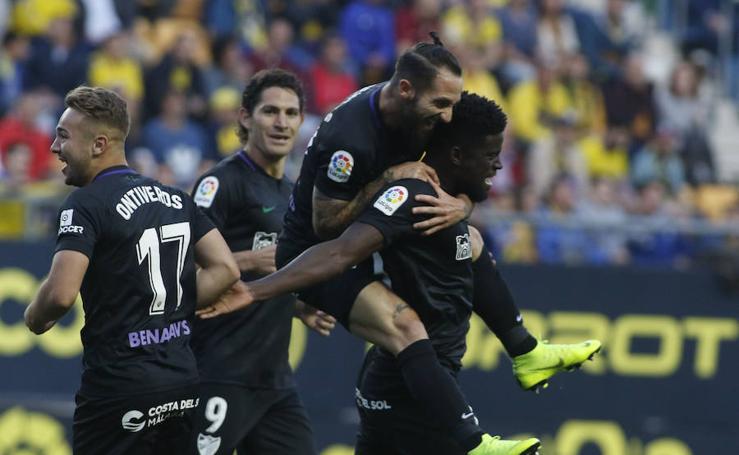Las imágenes del duelo Cádiz-Málaga