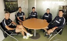 Víctor presenta a su equipo de trabajo en el Málaga