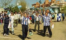 Las mejores imágenes de la afición malaguista en el histórico Numancia-Málaga de 1999