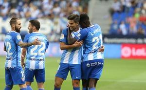 El Málaga reacciona a lo grande