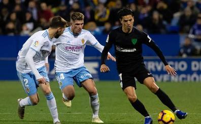 Mula, la gran novedad del once del Málaga ante el Zaragoza