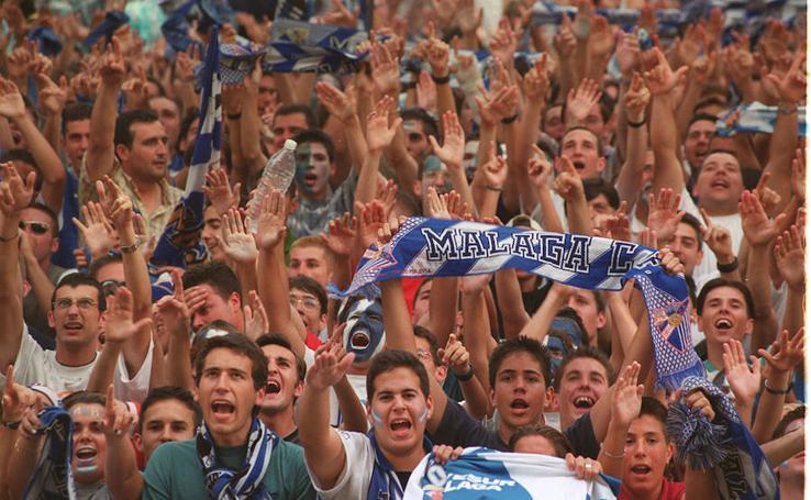 Las mejores imágenes del ascenso del Málaga a Primera División en 1999