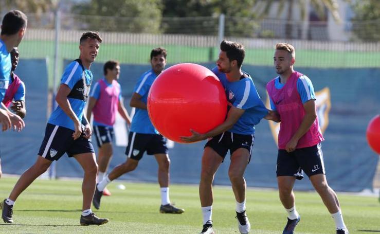 Entrenamiento del Málaga cara al partido contra el Albacete