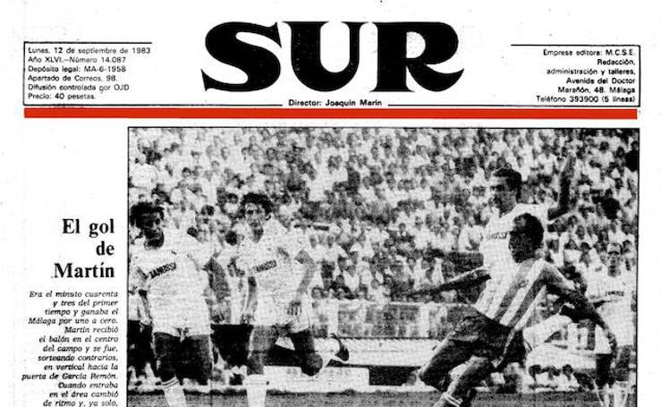 Así se vivió en SUR la histórica goleada del Málaga al Real Madrid