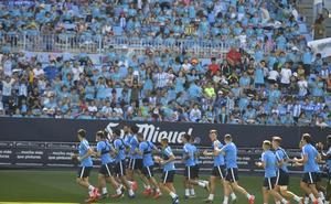 El Málaga pone a la venta este martes las entradas para abonados para el partido en La Coruña