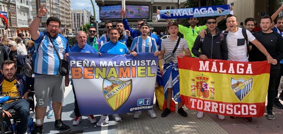 14 horas y 1.200 kilómetros para ver el primer asalto del Málaga en La Coruña