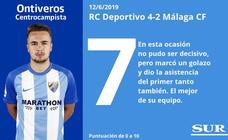 El uno a uno de los jugadores del Málaga tras el chasco en Riazor