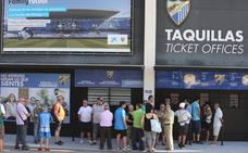 El Málaga, con 10.000 abonados ya para la próxima temporada