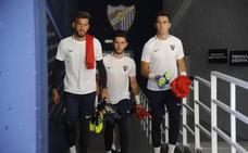 Kellyan, Ramón e Iván Jaime, fijos en el comienzo del trabajo del Málaga