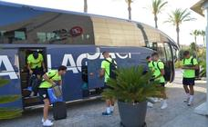 La llegada del Málaga a Estepona, en imágenes