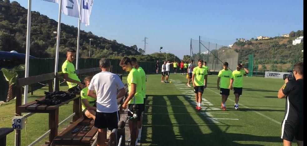 Cifu y Luis Hernández, ausencias en la primera sesión del Málaga CF