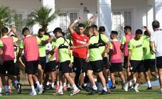 El entranamiento del Málaga CF de este viernes, en imágenes