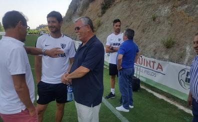 Martín Aguilar, Ben Barek y Capello, de visita en el entrenamiento