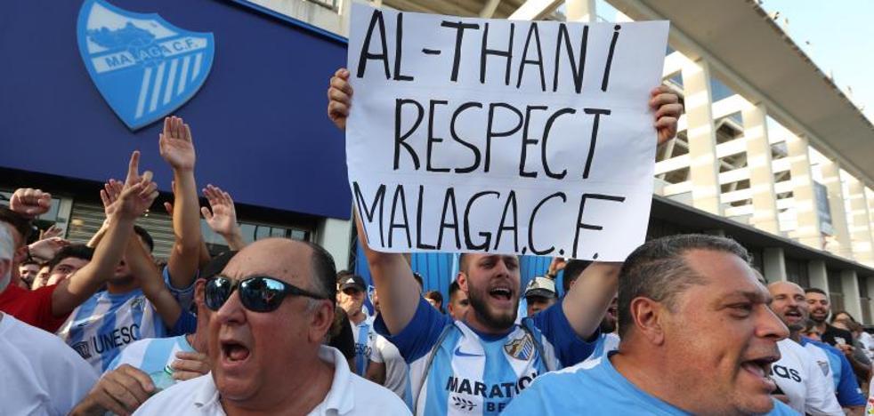 El malaguismo se moviliza contra Al-Thani